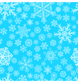 Christmas seamless pattern of snowflakes vector image
