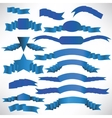 Blue ribbons with a stripe vector image vector image