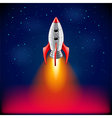 Rocket launch in space background vector image