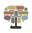 Art tree with frames infographic concept vector image vector image