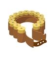 Shells belt cartoon icon vector image