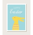Easter design with cute bunny greeting card or vector image vector image