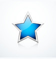 blue star icon vector image