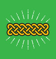 celtic infinity kot design vector image