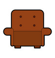 comfortable sofa isolated icon vector image