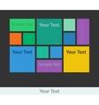 Flat design template vector image
