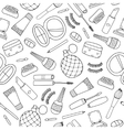 hand drawn doodle cosmetics seamless vector image