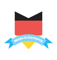 Made in Germany label or badge Made in Germany vector image