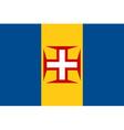 Madeira flag vector image