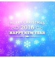 Merry Christmas and Happy New Year 2016 vector image