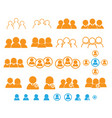 set of people user teamwork icon vector image