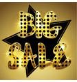 golden big sale background vector image vector image