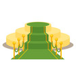 green award carpet vector image