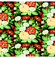 background with a pattern of flowers vector image