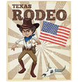 Rodeo poster vector image vector image