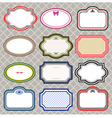 set of retro styled frames vector image