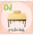 Alphabet D is for desk vector image