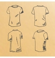 t-shirt design templates sketch vector image