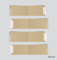 Collection of various note papers ready for your vector image