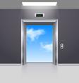 Elevator doors vector image