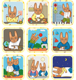 Hare Schedule Day Set vector image vector image