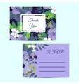 Cute wedding invitation template vector image