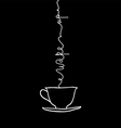 Cup of coffee with a lettering Wake Up vector image