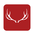 deer horns icon vector image