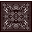 Design for square pocket shawl textile vector image