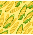 Seamless pattern with fresh ripe corn cobs vector image