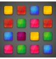 Set of colorful button icons vector image