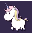 Unicorn horse cartoon design vector image