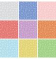 snowflake patterns vector image vector image