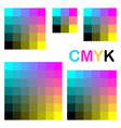 CMYK colors 1 vector image vector image