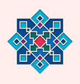 arabesque arabic tile orient colorful stained vector image