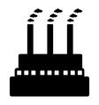 Factory icon vector image vector image