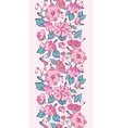 pink blue kimono flowers vertical border vector image