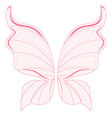 Pink fairy wings vector image