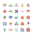 Education Flat Colored Icons 4 vector image