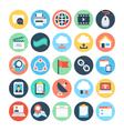 Communication Flat Icons 4 vector image