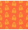 Cartoon halloween ghosts seamless pattern vector image