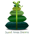 christmas pillows tree vector image
