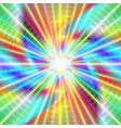 colorful laser rays vector image