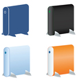 external hdd icons set vector image