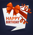 happy birthday greeting banner template looking vector image