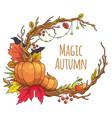 magic autumn frame vector image