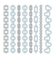 metal and silver chains isolate on white vector image