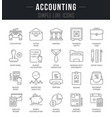 set line icons of accounting vector image