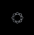 Symbol of Buddhism- Lotus flower vector image