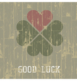 good luck retro symbol vector image vector image